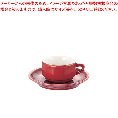 フローラ モカカップ&ソーサー(6客入) PTFL M FL レッド【メイチョー】【APILCO【アピルコ】 洋食器 】