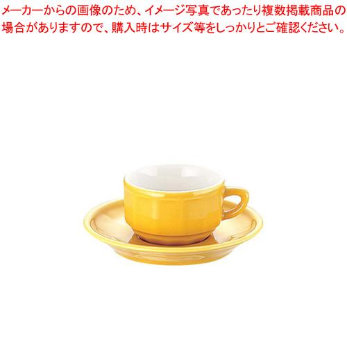 フローラ モカカップ&ソーサー(6客入) PTFL M FL イエロー【メイチョー】【APILCO【アピルコ】 洋食器 】