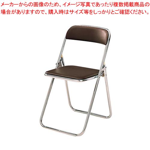 折りたたみイス CF-1000M (6脚入)ブラウン【 家具 洋風椅子 カフェチェア 】 【メイチョー】