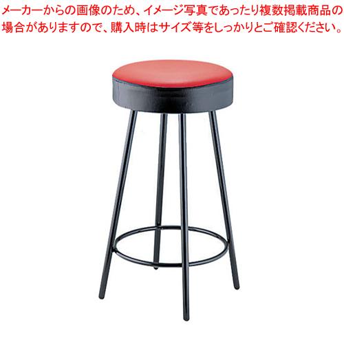 丸イス K-350(赤/黒) 座高620mm【メイチョー】【メーカー直送/代引不可】