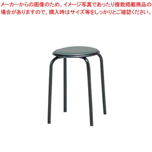 丸イス M-24T(10脚入) グリーン【メイチョー】【家具 椅子 洋風丸いす 】