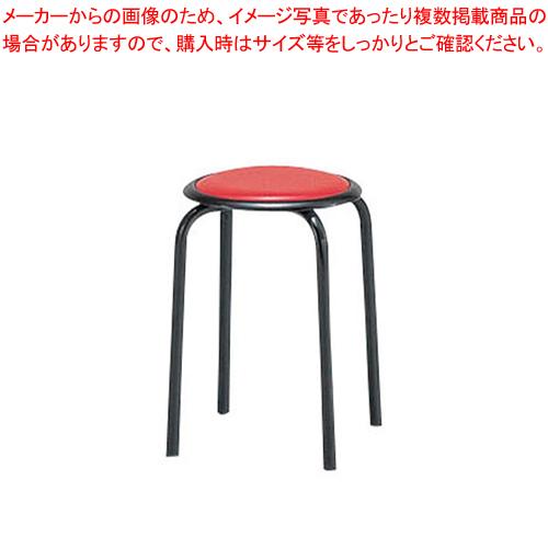 丸イス M-24T(10脚入) レッド【メイチョー】【家具 椅子 洋風丸いす 】