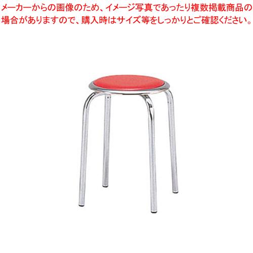 丸イス M-24M(10脚入) レッド【メイチョー】【家具 椅子 洋風丸いす 】