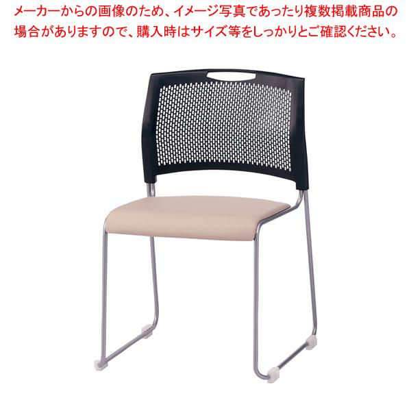 スタッキングチェア(4脚入) NSB-T10L Lベージュ 【メイチョー】