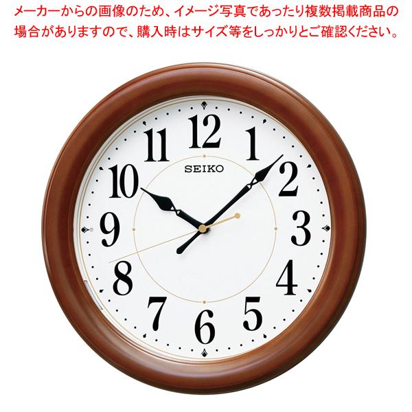 セイコー 木枠電波掛時計 KX204B 【メイチョー】