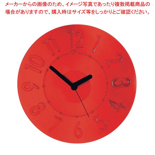 グッチーニ ウォールクロック 0499.0065 レッド 【メイチョー】