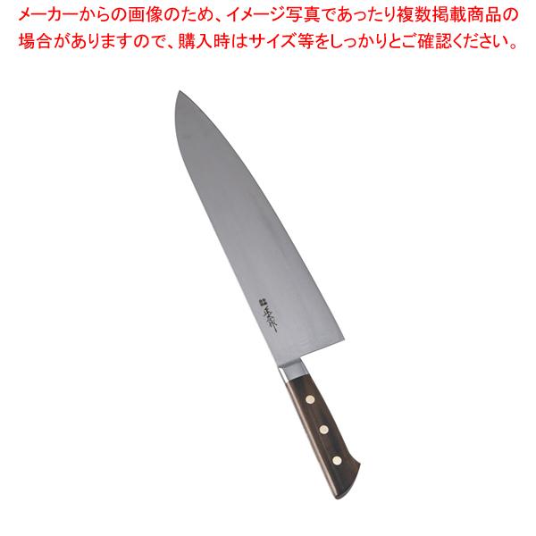 正広 本職用日本鋼 小間切 13028 30cm【 洋包丁 牛刀 】 【メイチョー】