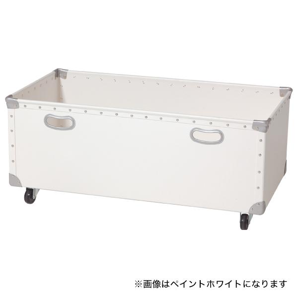 キャスター付ファイバーボックス フチ強化タイプ(W830)ネイビー 【メイチョー】