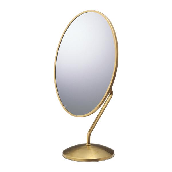 ダエン型卓上鏡(鏡厚3mm)アンティークゴールド 【メイチョー】