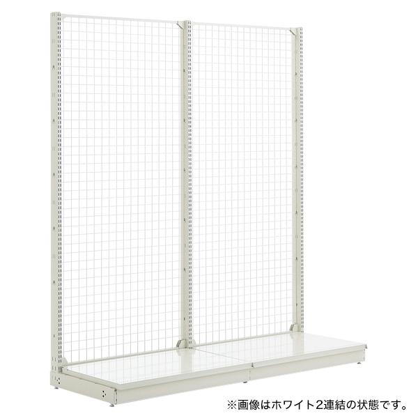 スチール什器 背面ネット W900×H1500(片面コネクト)ホワイト 【メイチョー】