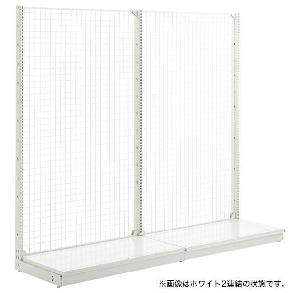スチール什器 W1200×H1500 背面ネット(片面コネクト)ホワイト 【メイチョー】