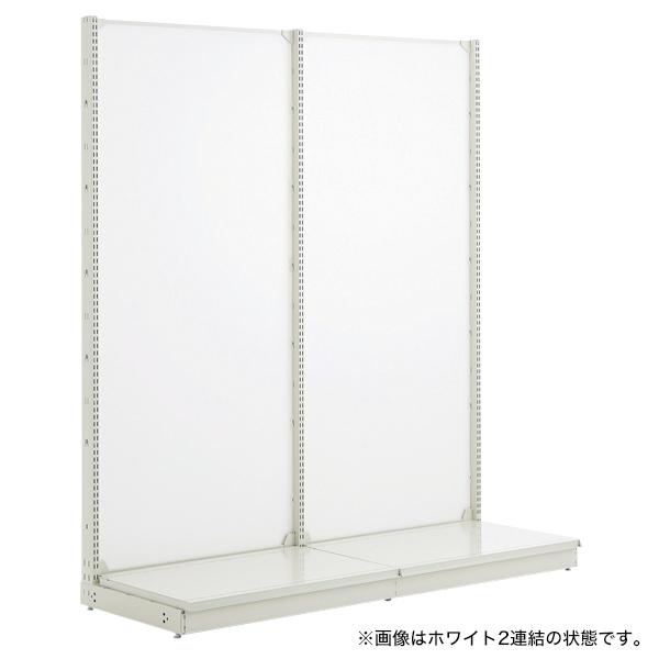 スチール什器 背面ボード W900×H1350(片面コネクト)ホワイト 【メイチョー】