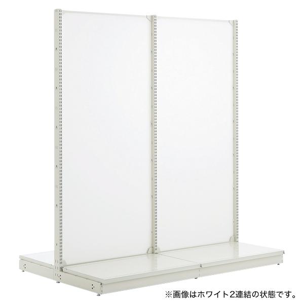 スチール什器 背面ボード W900×H1650(両面コネクト)ホワイト 【メイチョー】