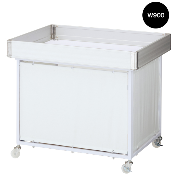 平台ワゴン W900 ホワイト 【メイチョー】