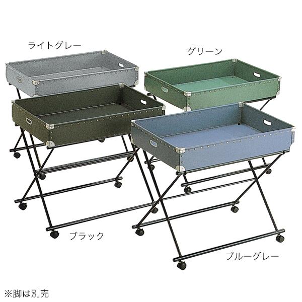 セールワゴンL用上置台 ブルーグレー深型 【メイチョー】