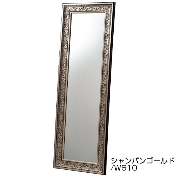 アンティーク立掛けミラーW610 ゴールド 【メイチョー】