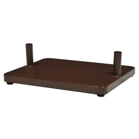 ポストスタンド 自立ベース チョコレート AB-1 【 メーカー直送/代金引換決済不可 】 【メイチョー】