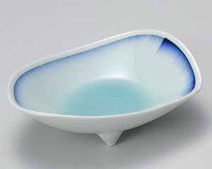 【まとめ買い10個セット品】和食器 ロ011-167 青白磁藍流し刺身鉢【キャンセル/返品不可】【開業プロ】
