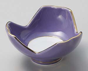 和食器 タ071-326 紫釉割山椒小付
