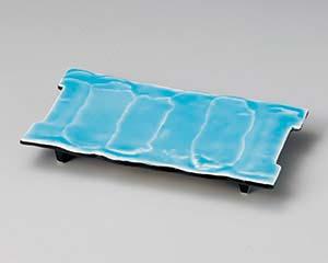 【まとめ買い10個セット品】和食器 ミ128-106 湖水青白まな板皿 【キャンセル/返品不可】【開業プロ】