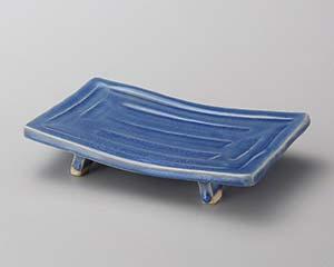 【まとめ買い10個セット品】和食器 ミ139-057 青釉ソギまな板焼物皿 【キャンセル/返品不可】【開業プロ】