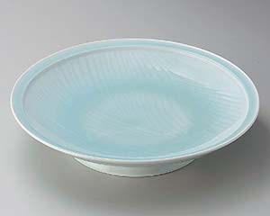 【まとめ買い10個セット品】和食器 ト165-066 青白磁静流9.0皿 【キャンセル/返品不可】【開業プロ】