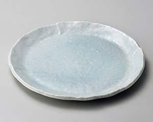 【まとめ買い10個セット品】和食器 ロ175-017 青白釉9.0丸皿【キャンセル/返品不可】【開業プロ】