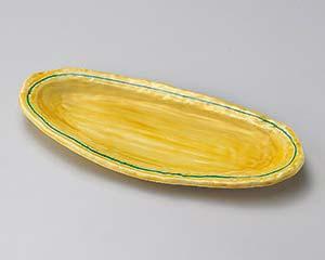 【まとめ買い10個セット品】和食器 ツ188-017 琥珀楕円尺皿【キャンセル/返品不可】【開業プロ】