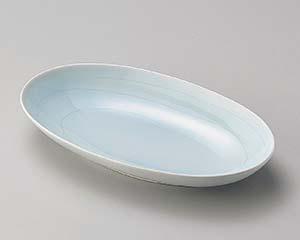 【まとめ買い10個セット品】和食器 ロ192-107 やよい楕円深皿 【キャンセル/返品不可】【開業プロ】