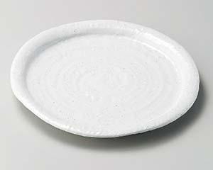 【まとめ買い10個セット品】和食器 ア203-117 白釉波皿【キャンセル/返品不可】【開業プロ】