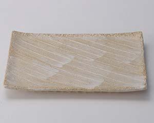 和食器 ス231-016 志野釉(手造り)9号長角皿