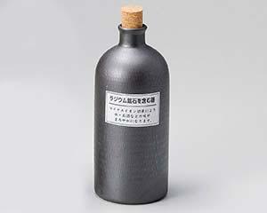 【まとめ買い10個セット品】和食器 メ265-027 ラジウムボトル黒短 【キャンセル/返品不可】【開業プロ】