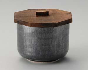 和食器 タ353-356 窯変銀彩結晶飯器(蓋付)