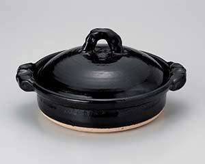 【まとめ買い10個セット品】和食器 メ394-176 黒釉9.0黒切立鍋 【キャンセル/返品不可】【開業プロ】