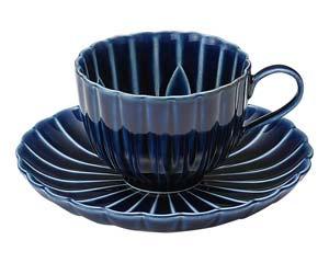 【まとめ買い10個セット品】和食器 イ441-157 ぎやまん 茄子紺 BLUE コーヒー碗皿【キャンセル/返品不可】【開業プロ】