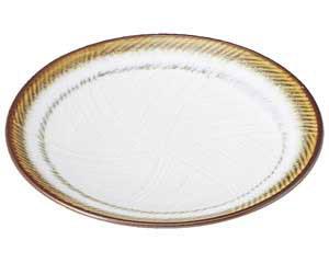 【まとめ買い10個セット品】和食器 ア485-677 乳白 丸7.0皿【キャンセル/返品不可】【開業プロ】