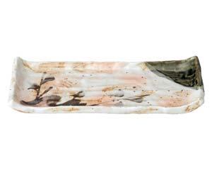 【まとめ買い10個セット品】和食器 ツ490-387 白タタキサビ木 焼物皿【キャンセル/返品不可】【開業プロ】