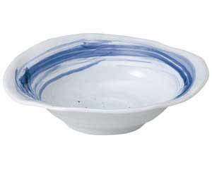 【まとめ買い10個セット品】和食器 ア250-027 青空楕円大鉢【キャンセル/返品不可】【開業プロ】