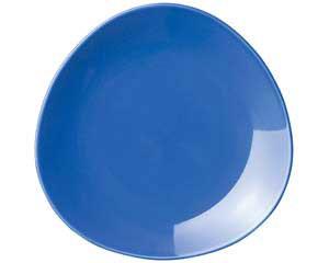 【まとめ買い10個セット品】ト589-037 トライアングル ブルー10吋皿【キャンセル/返品不可】【開業プロ】