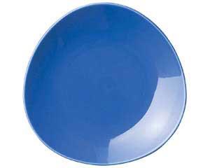 【まとめ買い10個セット品】ト589-137 トライアングル ブルー8吋皿【キャンセル/返品不可】【開業プロ】