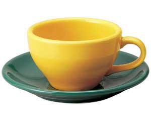 【まとめ買い10個セット品】和食器 ト580-686 イエロー紅茶碗 【キャンセル/返品不可】【開業プロ】