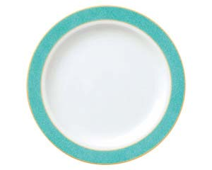 【まとめ買い10個セット品】ホ591-027 エメラルドグリーン 7.5吋ケーキ皿【キャンセル/返品不可】【開業プロ】