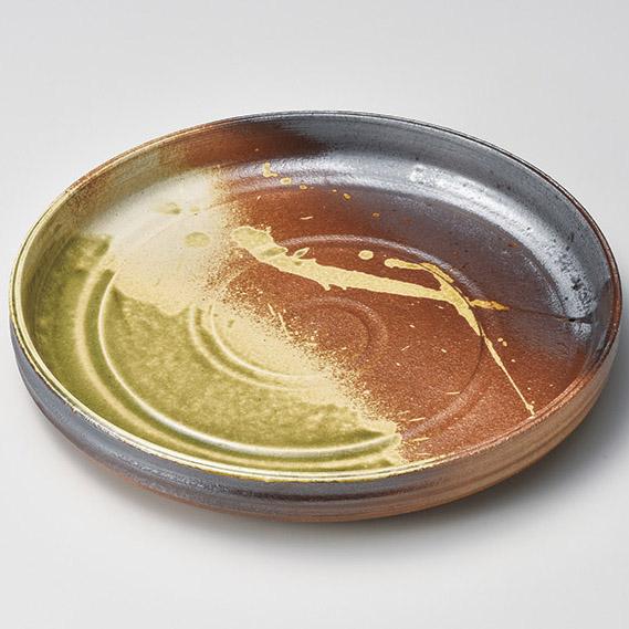 和食器 メ165-197 古信楽10.0深丸皿 【メイチョー】