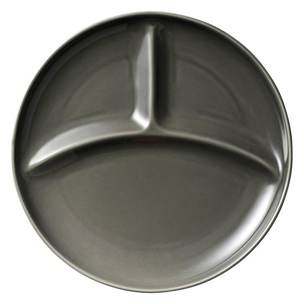 isj-574-147 和食器 カ574-147 現金特価 グレー丸型ランチプレート カフェズ メイチョー 高品質