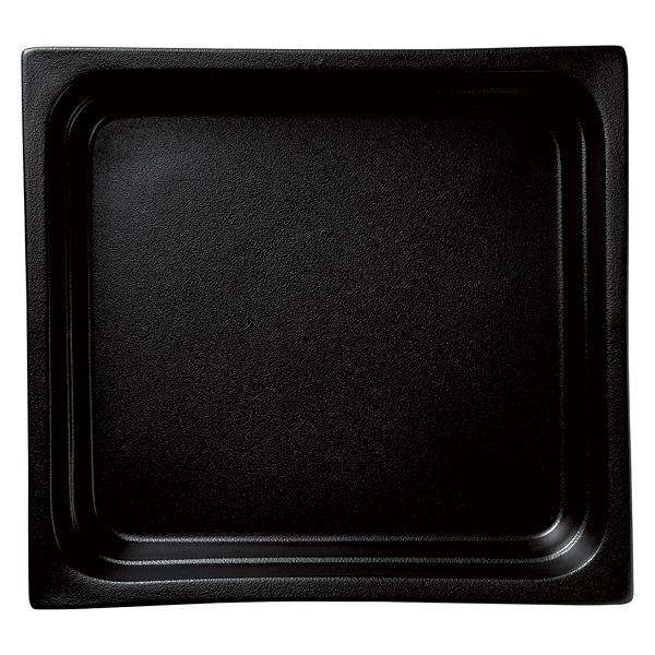 和食器 イ593-037 ガストロノームパン(UAE) 角型深2/3黒 【メイチョー】