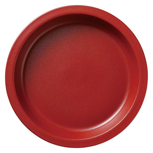 和食器 イ593-077 ガストロノームパン(UAE) 丸型深M赤 【メイチョー】