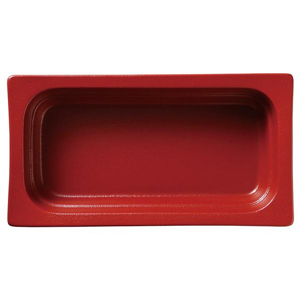 和食器 イ593-107 ガストロノームパン(UAE) 角型深1/3赤 【メイチョー】