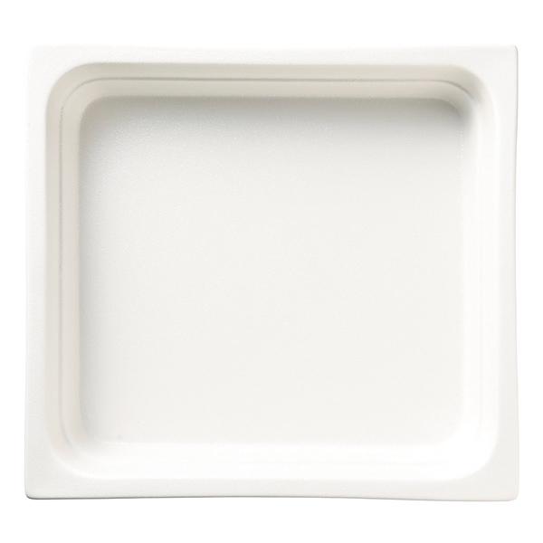 和食器 イ593-137 ガストロノームパン(UAE) 角型深2/3白 【メイチョー】