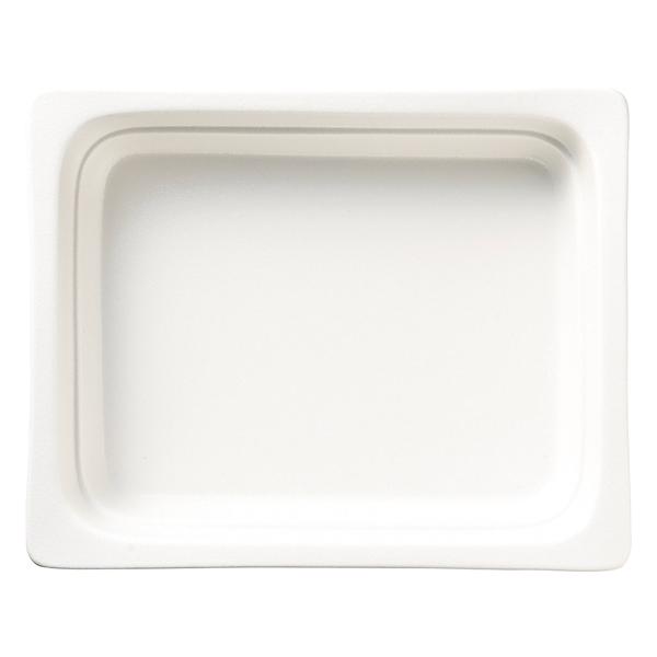 和食器 イ593-147 ガストロノームパン(UAE) 角型深1/2白 【メイチョー】