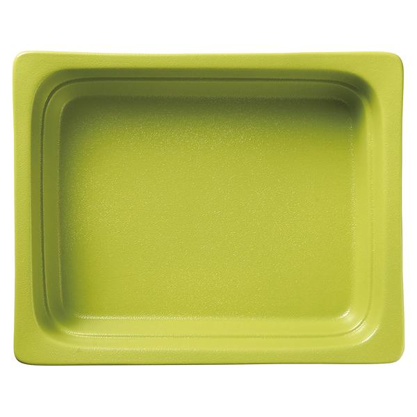 和食器 イ593-237 ガストロノームパン(UAE) 角型深1/2グリーン 【メイチョー】